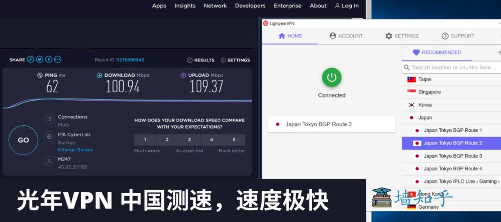 VPN测速2、免费VPN、光年VPN测速